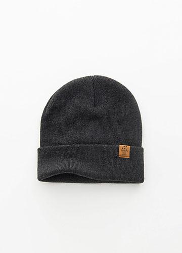 日系小布標毛線帽