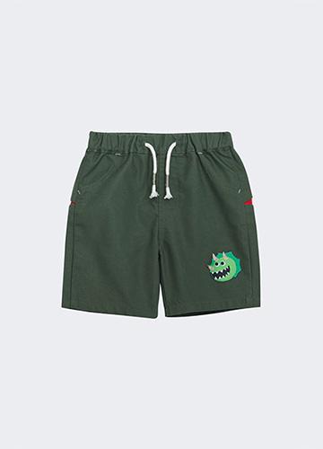 BABY立體恐龍印花短褲