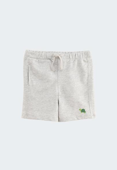 BABY動物刺繡棉質短褲