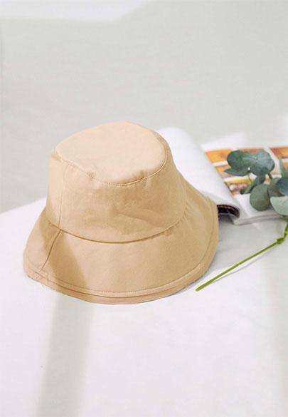 素色抽鬚漁夫帽