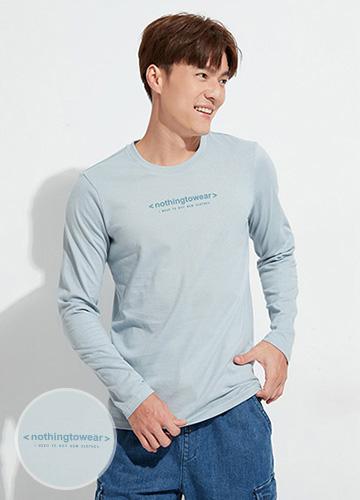純棉印字長袖T恤