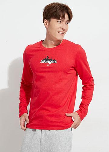 AVENGERS印字長袖T恤